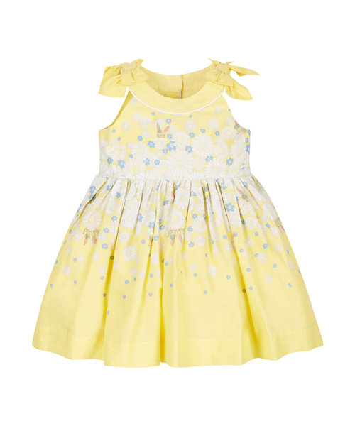 Yellow Floral Prom Dress